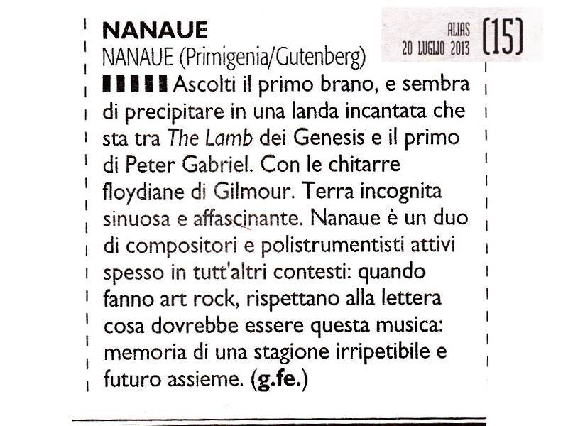Great reviews from the Italian news!!